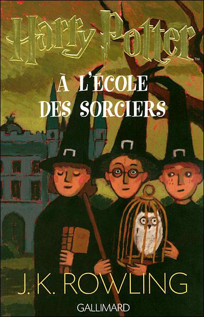 couverture harry potter à l'école des sorciers j.k.rowling